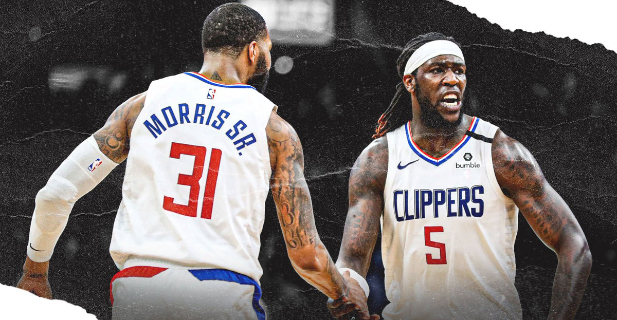 Los Angeles Clippers Montrezl Harrell e Marcus Morris