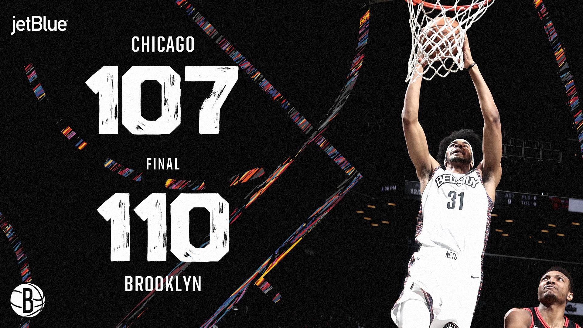 Chicago Bulls 107 Brooklyn Nets 110